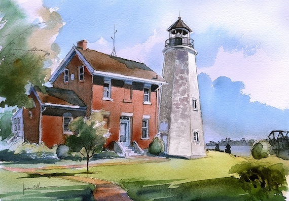 Charlotte Genesee Lighthouse: Charlotte-Genesee Lighthouse Lake Ontario Rochester NY