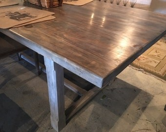 Gray-Washed Farm Table