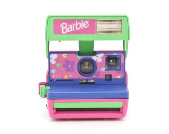 Polaroid Barbie Cam - Film Tested and in Working Condition - Pink and Purple Polaroid 600