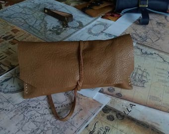 Custom Made,  Handmade wrap pouch tabacco holder , Simple Pipe Pouch , Tobacco bag , pipe  leather case , Tobacco pouch  Pipe bag