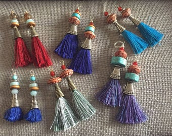 Caribbean Tassle Earrings