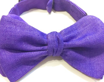 Freestyle Bow Tie Purple