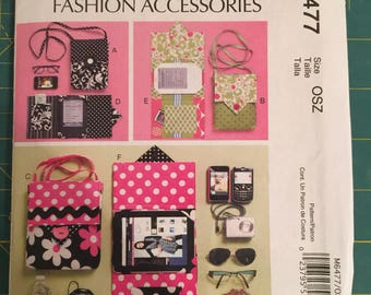McCall Pattern 6477, electronic device carrying case, e-reader cover, sewing pattern