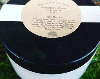 Cashmere Moon Handcrafted Natural Body Lotion 4 oz.