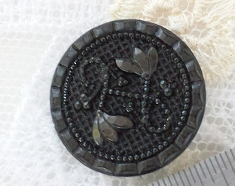 Victorian Mourning Button