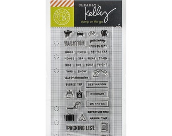 Hero Arts - Kelly Purkey Clear Planner Stamps - Travel Planning