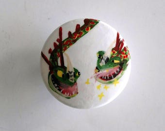 Sale - Barf and Belch How to Train Your Dragon Knob, Ready to Ship, Large Drawer Pull