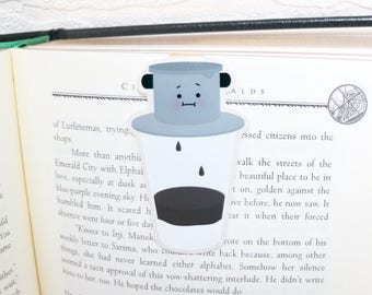 Vietnamese Coffee (Cafe Sua Da) Magnetic Bookmark (Jumbo)