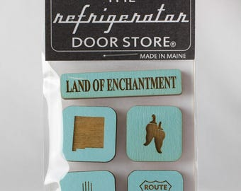 Refrigerator Magnet. Fridge Magnets. Kitchen Magnets. Kitchen Decor. Magnets. Land of Enchantment. New Mexico.