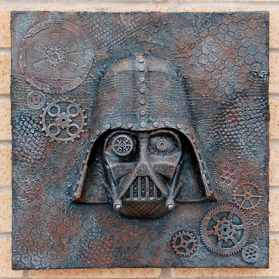 Steampunk Darth Vader 3d Star Wars Canvas Art Wall Hanging