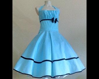 50s rockabillydress, made to measure , wedding dress, petticoat dress, bridesmaids dress,  flower girls dress, summer dress in
