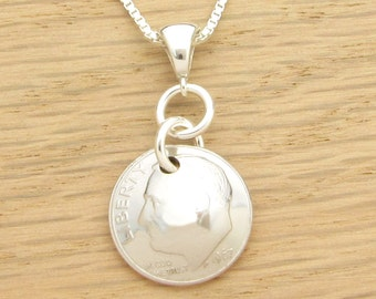 For 50th: 1967 US Dime Necklace 50th Birthday or 50th Anniversary Gift