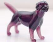 Dog Labrador - glass figure.