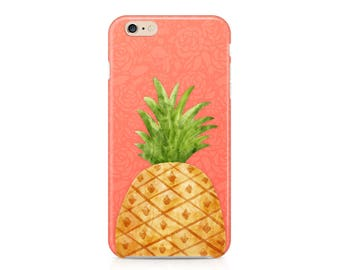 Watercolor Pineapple Phone Case - Tropical Fruit Phone Case - Summer Phone Case - Watercolor Phone Case - iPhone 7 - Galaxy S8