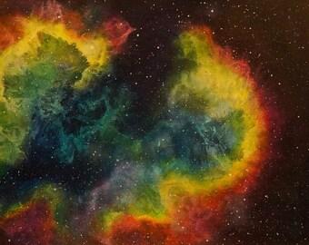 Space Art Original Painting Nebula