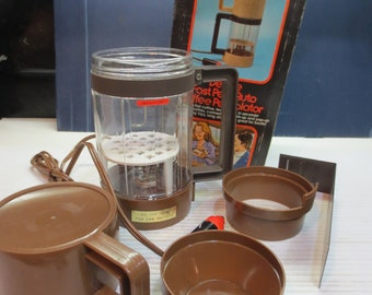 70's Vintage 12v Electric Coffee Maker, Car Coffee Pot Plugs In Lighter