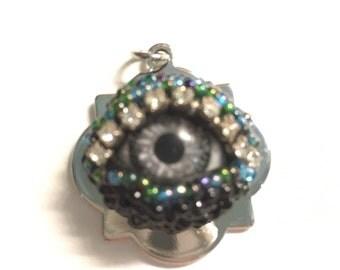 Protective Eye  Pendant silver SewSaris