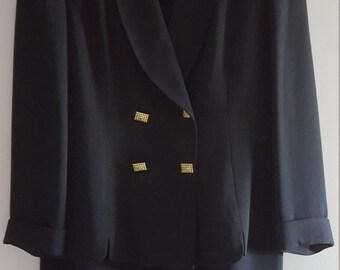 Albert Nippon Black Career Skirt Suit, Womens Size, 16