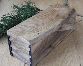 Walnut & Butternut Dovetail Natural Edge Wood Box