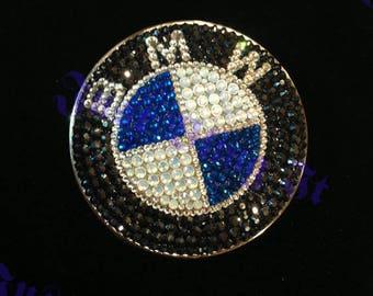 Swarovski Crystal Bling hood front emblem for BMW