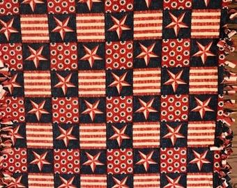 Patriotic Fleece Tie Blanket