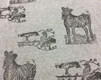 Zebra and bird serengeti scarf