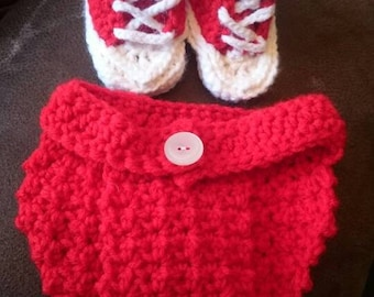 Baby converse with diaper cover