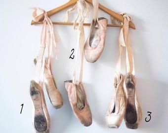 Vintage Ballet Slippers    Ballerina    Shabby Chic Decor