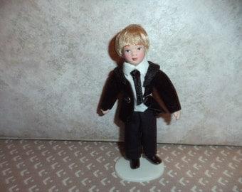 1:12 scale Dollhouse Miniature Porcelain Little Boy