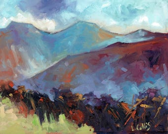 Damp Day Pen-y-Fan,  Brecon Beacons limited edition giclee print. Edition of 100
