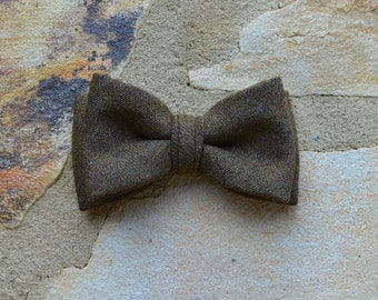 kids bow tie,brown bow tie for boys,fall fashion,fall bow tie,wool flannel suiting