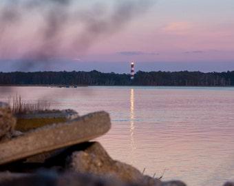Assateague Lighthouse and Pastel Sunset