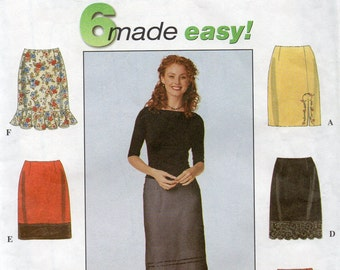 Simplicity 6 SKIRTS MADE EASY Pattern 8664 Misses 4 6 8