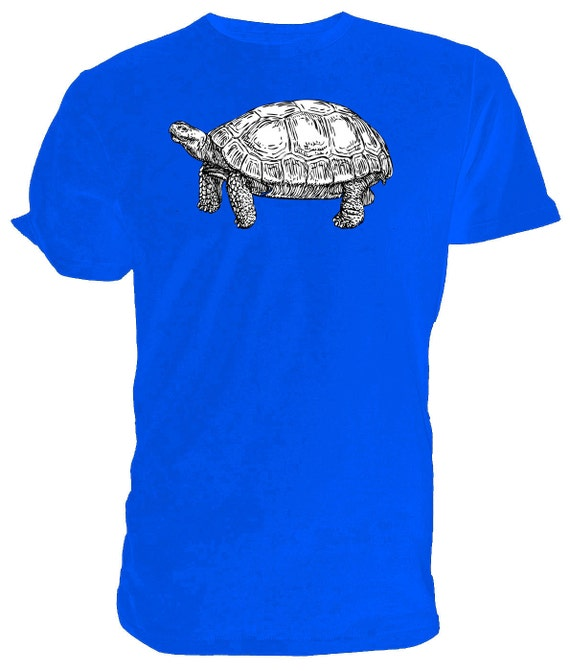 TORTOISE T shirt choice of sizes and colours, Black and white Line Drawing
