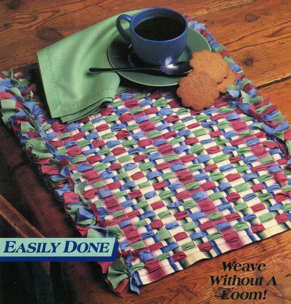 Basket Weaving Books Free : Weaving easy without a loom pattern book placemats
