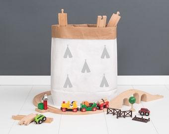 Paper bag M - small tipi grey - powder cloud