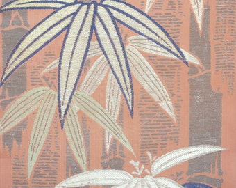 Bamboo Obi Silk Vintage Brocade / Fabric 30cm x 38cm  BX044