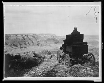 Auotmobile Pioneer, Toledo Car, Grand Canyon, Early 1900's Photo Print