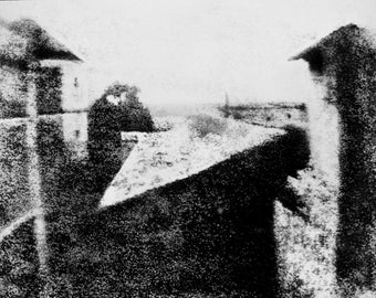 First Photograph 1827, View from the Window at Le Gras, Joseph Nicéphore Niépce