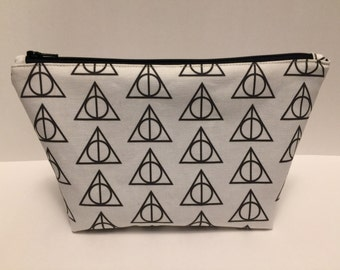 Large Harry Potter Deathly Hallows Zipper Clutch
