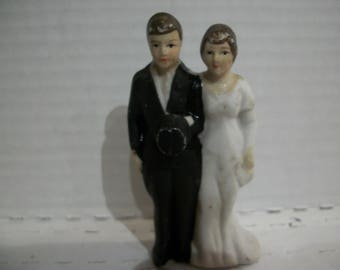 Bisque Wedding Cake Topper