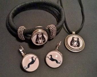 UniQ Galgo / Greyhound sieraden set 3 stijlen