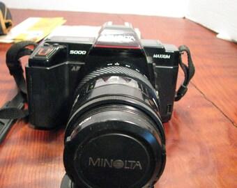 Vintage Minolta 5000 Maxxum Camera