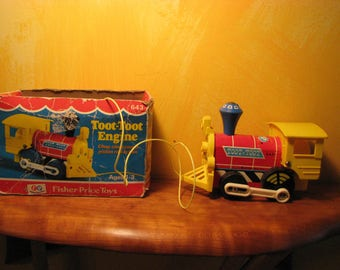 Vintage Fisher Price Toot-Toot Engine No. 643