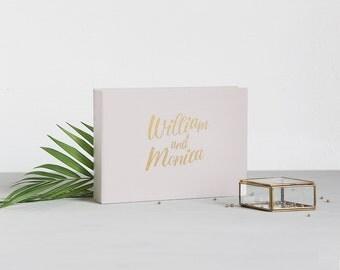 Wedding Album Cream Guest Book With Gold Lettering, Instax Photo album, Instant Album, Birthday Album, Wedding Instant Book - by Liumy