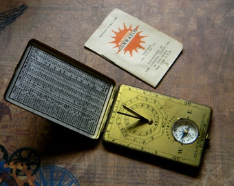 Elegantly Crafted Antique Sun Watch - Ansonia Brass Cased Pocket Sun Dial Watch