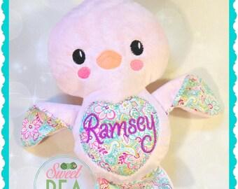 Personalized Stuffed Animal - Lovebird - Monogram Stuffed Animal - Plush bird - Personalized Baby Gift - Baby Shower gift - Valentines Day