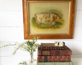 A beautiful Imperial Art Studio back painted vintage reproduction of an 18th century painting