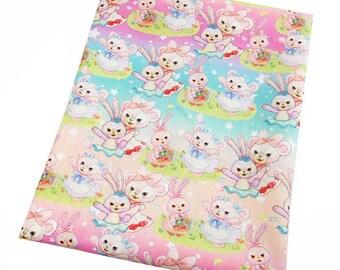sweet  little animals 3 fabric