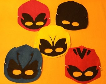 Rangers Masks.  (Set include 5 masks)